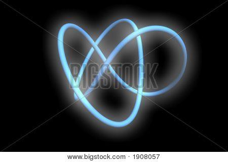 Blue Glowing Torus Knot