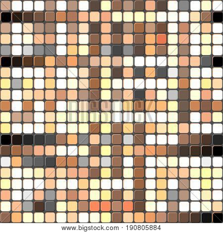 Abstract modern squares seamless pattern texture rust colors background.