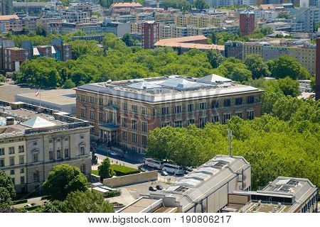 Aerial View Of The Martin Gropius Bau In Berlin