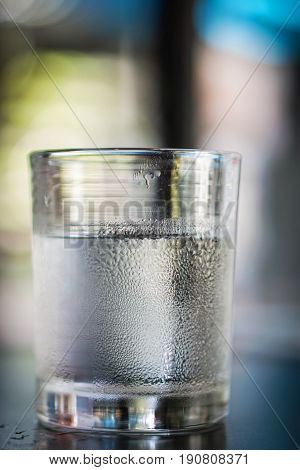 Glasses Water On A Table.