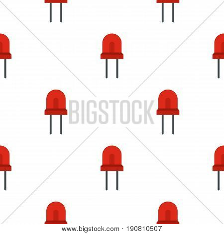 Red halogen lamp pattern seamless background in flat style repeat vector illustration