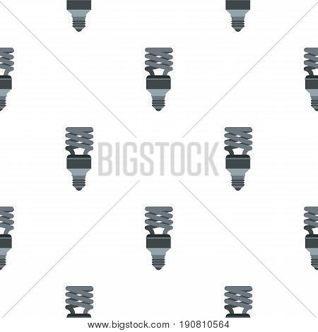 Energy saving lamp pattern seamless background in flat style repeat vector illustration
