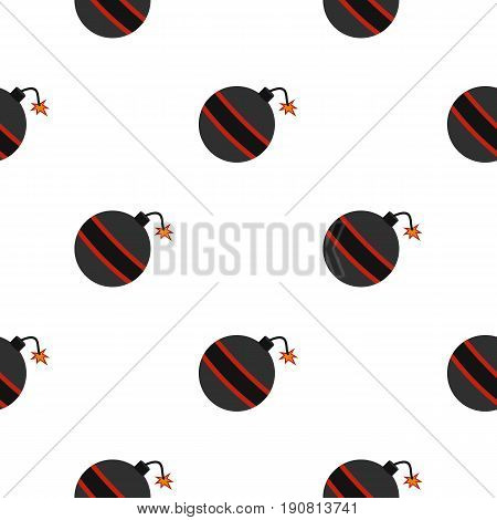 Bomb ready to explode pattern seamless background in flat style repeat vector illustration