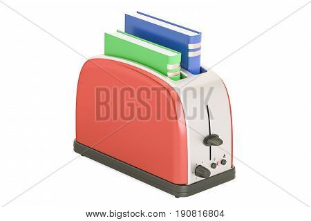 Hot new books concept 3D rendering isolated on white background