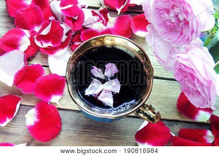 Tea With Rose Petals
