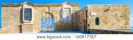 The fortress of San Antonio on the seafront wall of Bari. Apulia