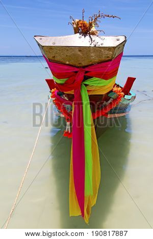 Prow Thailand   Kho Tao Bay Asia Isle Blue Clean