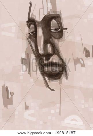Man Face Digital Painting