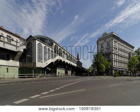 The train station Goerlitzer Bahnhof in Kreuzberg Berlin