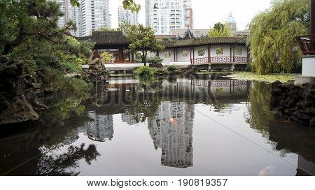 VANCOUVER, CANADA - AUGUST 06: Dr. Sun Yat-Sen Classical Chinese Garden in Vancouver, Canada is reopened on August 06, 2005. It was built using the principles of the original Ming Dynasty.