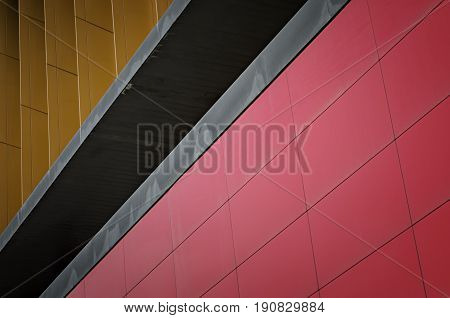 Modern urban architecture. Abstract architecture detail background.