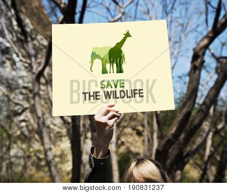 Save Wildlife  Animals Protect Support Graphic