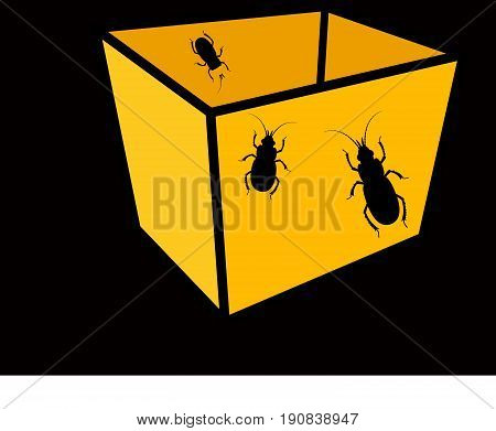 Insects in Packet - Vector Stock Illustration