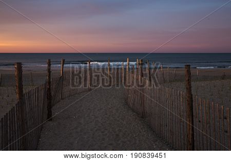 Sunrise Early Morning In Rockaway Park, New York