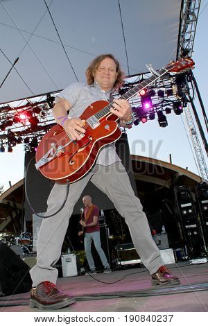 Scott Johnson of the Gin Blossoms performs on day 2 of the