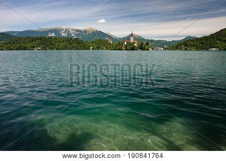 Lake Bled, Slovenia. Beautiful travel destination.