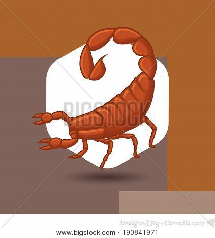 Creepy Wild Scorpion - Vector Stock Illustration