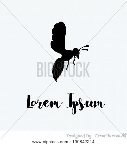 Wasp Template Design - Vector Stock Illustration