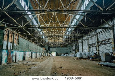 Abandoned building of Voronezh experimental plant of metal structures and process equipment