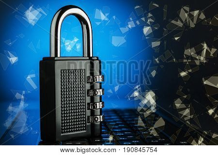 The Concept Of An Encrypted Internet Connection.
