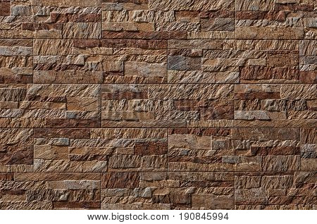 Decorative outdoor tile. Wall tile brick wall tile texture for background.