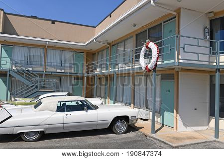 Memphis, TN, USA - June 9, 2017: Lorraine Motel where Dr. Martin Luther King Jr.was assassinated, and now site of the National Civil Rights Museum