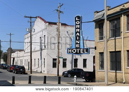 Memphis, TN, USA - June 9, 2017: Lorraine Motel where Dr. Martin Luther King Jr. was assassinated, and now site of the National Civil Rights Museum