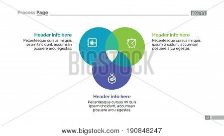 Circular diagram slide template. Business data. Graph, diagram, design. Creative concept for infographic, project. Can be used for topics like analysis, marketing, research