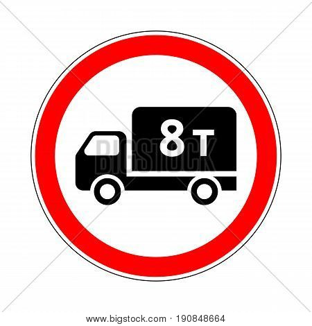 Illustration of Road Prohibitory Sign No Heavy Goods Vehicles