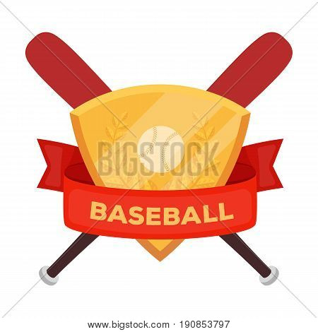 Emblem. Baseball single icon in cartoon style vector symbol stock illustration .
