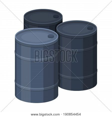 Barricade of empty barrels.Paintball single icon in cartoon style vector symbol stock illustration .