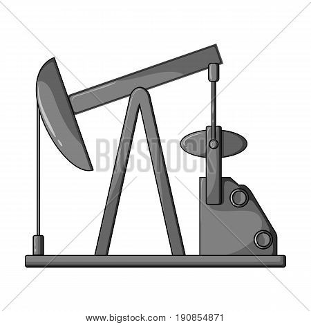 Oil pump.Oil single icon in monochrome style vector symbol stock illustration .