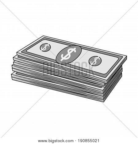 Petrodollars.Oil single icon in monochrome style vector symbol stock illustration .