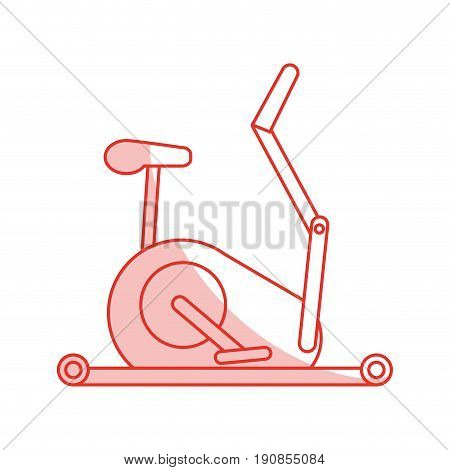 stationary bicycle sport flat illustration icon vector design graphic shadow