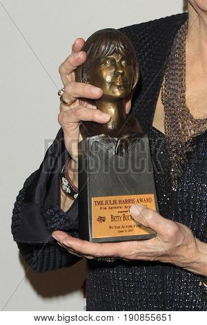 LOS ANGELES - JUN 11:  Award Detail - Betty Buckley Awarded Julie Harris Award at the Actors Fund's 21st Tony Awards Viewing Party at the Skirball Cultural Center on June 11, 2017 in Los Angeles, CA
