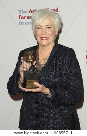 LOS ANGELES - JUN 11:  Betty Buckley Awarded Julie Harris Award at the Actors Fund's 21st Annual Tony Awards Viewing Party at the Skirball Cultural Center on June 11, 2017 in Los Angeles, CA