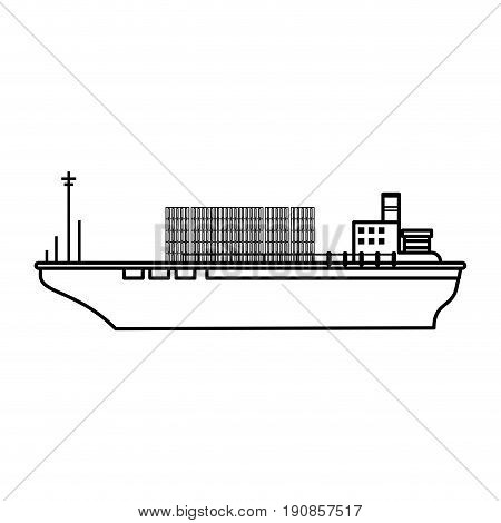 boat transport commodity illustration flat vector icon design graphic