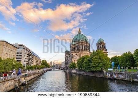 Berlin Cathedral Or Berliner Dom When Sunset, Berlin, Germany