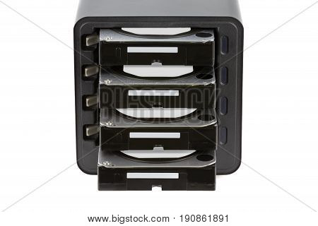 Nas, Storage Connected To The Network. Several Hard Drives. Hdd