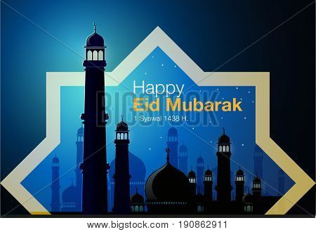 Abstract vector, greeting card of Eid al-Fitr holiday