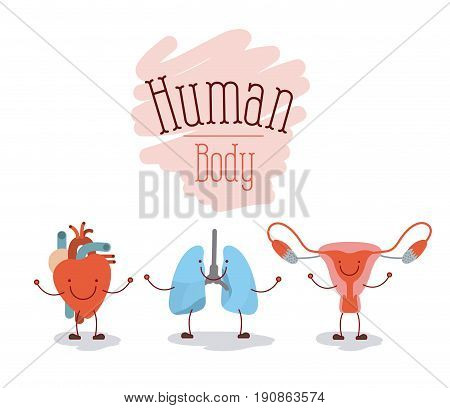 colorful silhouette caricature happy face set human body systems vector illustration