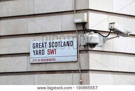 London Scotland Yard Sign