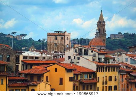 Florence, Italy - June, 5, 2017: panorama of Florence, Italy