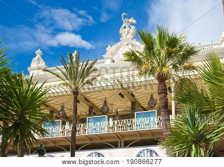 Monaco, Monte Carlo - September 17, 2016: The Grand casino Monte Carlo, gambling and entertainment complex in Cote de Azul.