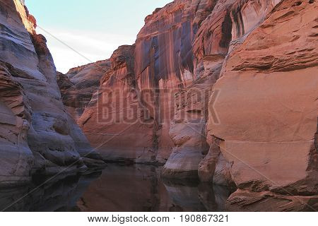 Rock formation on Lake Powell near Page, Arizona.