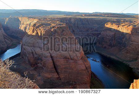 Arizona Horseshoe Bend on Colorado River in Glen Canyon Arizona
