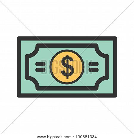 Gambling, bills, casino icon vector image. Can also be used for casino. Suitable for use on web apps, mobile apps and print media.