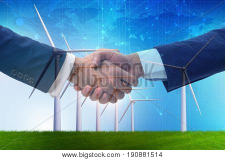 Agreement on climate change concept