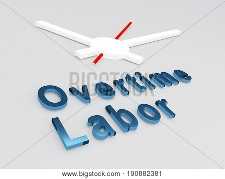 Overtime Labor Concept