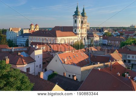 Eger Hungary, one of the largest cities in Hungary. It's famous for producing wine.